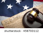 american flag  us constitution... | Shutterstock . vector #458703112
