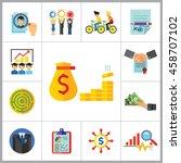 business icon set | Shutterstock .eps vector #458707102