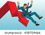business male financial... | Shutterstock .eps vector #458709466