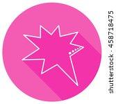 speech bubbles in pink round... | Shutterstock . vector #458718475