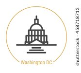washington dc  united states ... | Shutterstock .eps vector #458718712