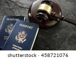 us passports and judges legal... | Shutterstock . vector #458721076