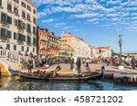 venice  italy   october 17 ... | Shutterstock . vector #458721202
