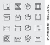 crates and box line icon | Shutterstock .eps vector #458723782