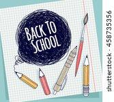 template banner or postcard.... | Shutterstock .eps vector #458735356
