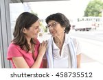 senior woman with home carer... | Shutterstock . vector #458735512