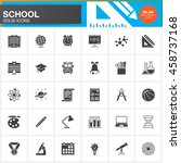 school vector icons set  modern ... | Shutterstock .eps vector #458737168