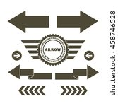 vector arrow symbol on white... | Shutterstock .eps vector #458746528