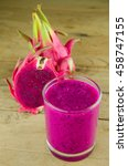 dragon fruit smoothie and sweet ... | Shutterstock . vector #458747155