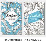 vector flyers on the marine... | Shutterstock .eps vector #458752732