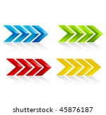 vector arrows | Shutterstock .eps vector #45876187