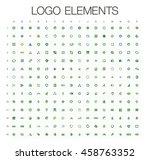 logo elements mega collection ... | Shutterstock .eps vector #458763352