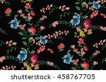 trendy seamless floral pattern... | Shutterstock .eps vector #458767705