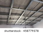 suspended ceiling structure ...   Shutterstock . vector #458779378