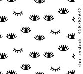 eye seamless pattern. vector... | Shutterstock .eps vector #458782642