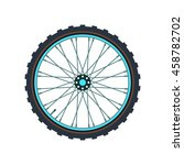 mountain bicycle wheel symbol.... | Shutterstock .eps vector #458782702