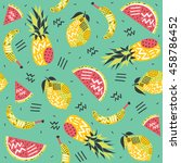 fruits seamless pattern in... | Shutterstock .eps vector #458786452