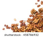 background of mixed nuts  ... | Shutterstock . vector #458786932