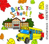 back to school  illustration.... | Shutterstock . vector #458787232
