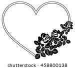 heart shaped silhouette frames...   Shutterstock .eps vector #458800138