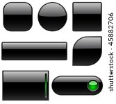 blank black plastic buttons for ... | Shutterstock .eps vector #45882706