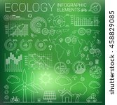 ecology infographic elements | Shutterstock .eps vector #458829085