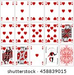 poker cards heart set two color ... | Shutterstock .eps vector #458839015