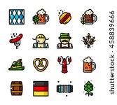 thin line oktoberfest icons set ...   Shutterstock .eps vector #458839666