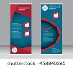 roll up banner stand template.... | Shutterstock .eps vector #458840365