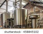 modern beer plant  brewery  ... | Shutterstock . vector #458845102