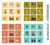 assembly flat icons natural... | Shutterstock .eps vector #458848588