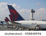 new york   july 6  2016  delta... | Shutterstock . vector #458848996