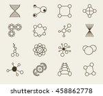set of icons molecule theme...   Shutterstock .eps vector #458862778