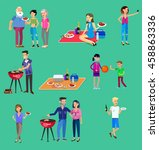 vector character set  people on ... | Shutterstock .eps vector #458863336