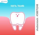 vector cartoon bad tooth icon...   Shutterstock .eps vector #458870248