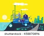 desalination plant supplies... | Shutterstock .eps vector #458870896