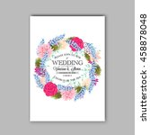 wedding card or invitation with ... | Shutterstock .eps vector #458878048