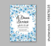 wedding card or invitation with ... | Shutterstock .eps vector #458878135