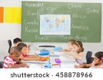 kids studying in classroom at... | Shutterstock . vector #458878966