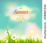 summer flowers vector | Shutterstock .eps vector #458881546