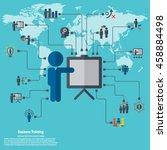 business training   learning... | Shutterstock .eps vector #458884498