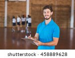 Portrait of sports teacher...