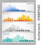 cityscape set | Shutterstock .eps vector #458889682