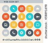 web icon set. multicolored... | Shutterstock .eps vector #458891698
