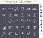 inline tourism icons collection | Shutterstock .eps vector #458891725