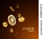 chips  the concept of a casino. | Shutterstock .eps vector #458891815