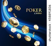 chips  the concept of a casino. | Shutterstock .eps vector #458891836