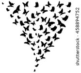 beautiful butterflies  on a... | Shutterstock . vector #458894752