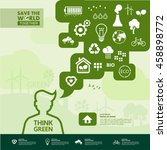think green vector. | Shutterstock .eps vector #458898772