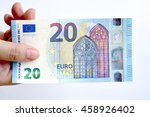 20 euro on hand isolated on... | Shutterstock . vector #458926402